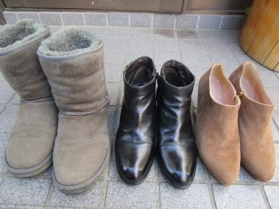 冬のブーツもお終い・・・除湿材を入れて保管