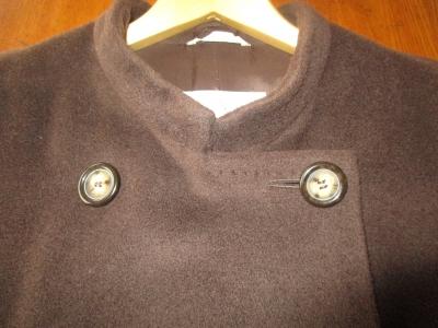 コートの襟の形を簡単リメイク