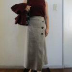 10月なのにノースリーブ・・・とロングタイトスカート
