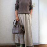 購入してよかった・・・GUリネンブレンドフレアロングスカート