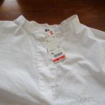 白ビッグシャツはYラインシルエットで着こなす